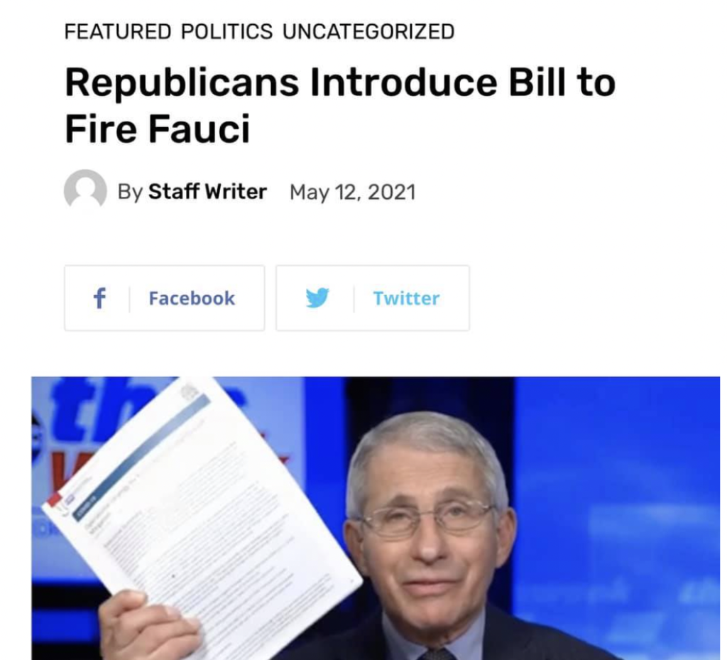 Fauci's Incompetence